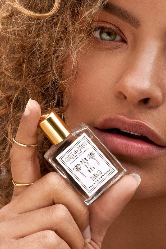 Fragnance beauty model