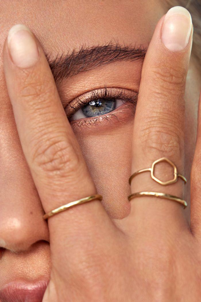 Eye rings hand