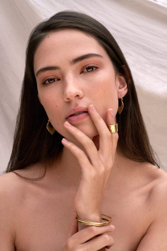 Jewellery beauty model